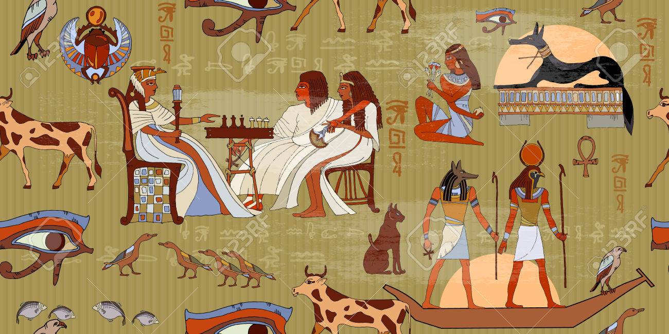 Ancient Pattern Egypte Sculptures Hiéroglyphiques Sur Les Murs Extérieurs D Un Ancien Modèle égyptien Peintures Murales Egypte Ancienne Dieux Et