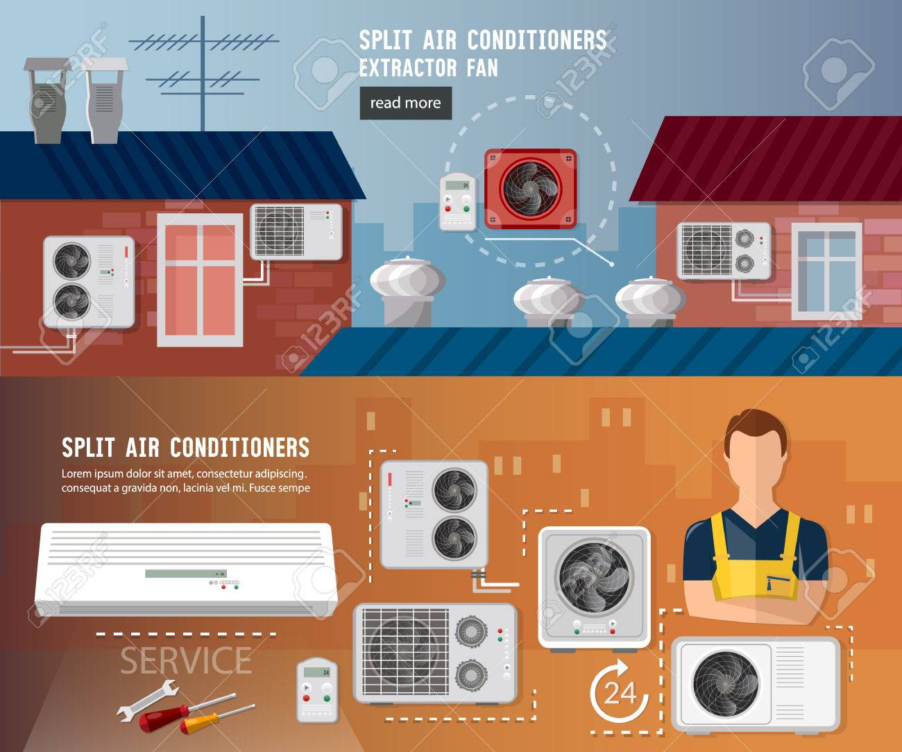 Installation of air conditioners 50