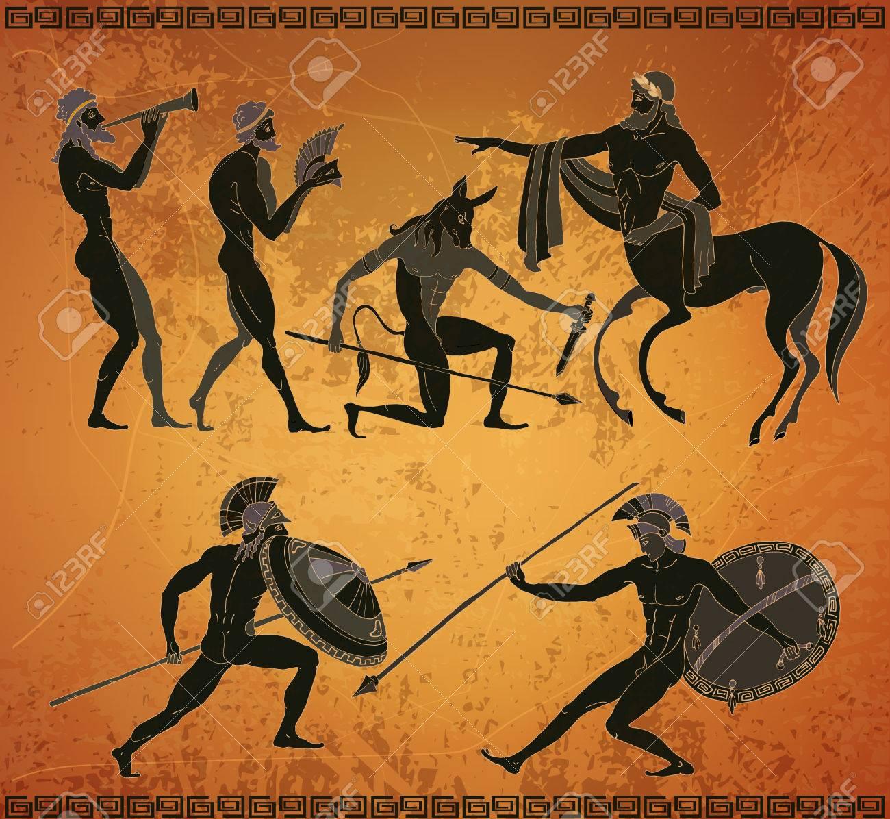 Griechisch aussehende Menschen