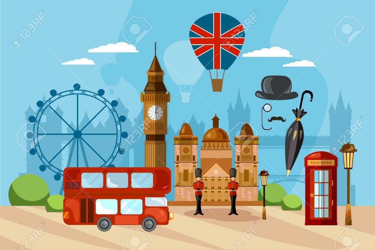 London City Skyline, London United Kingdom. Travel and tourism background. - 88293884