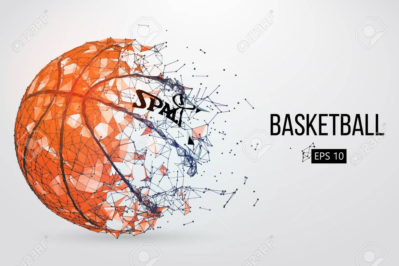 Silhouette of a basketball ball. Vector illustration - 74794990