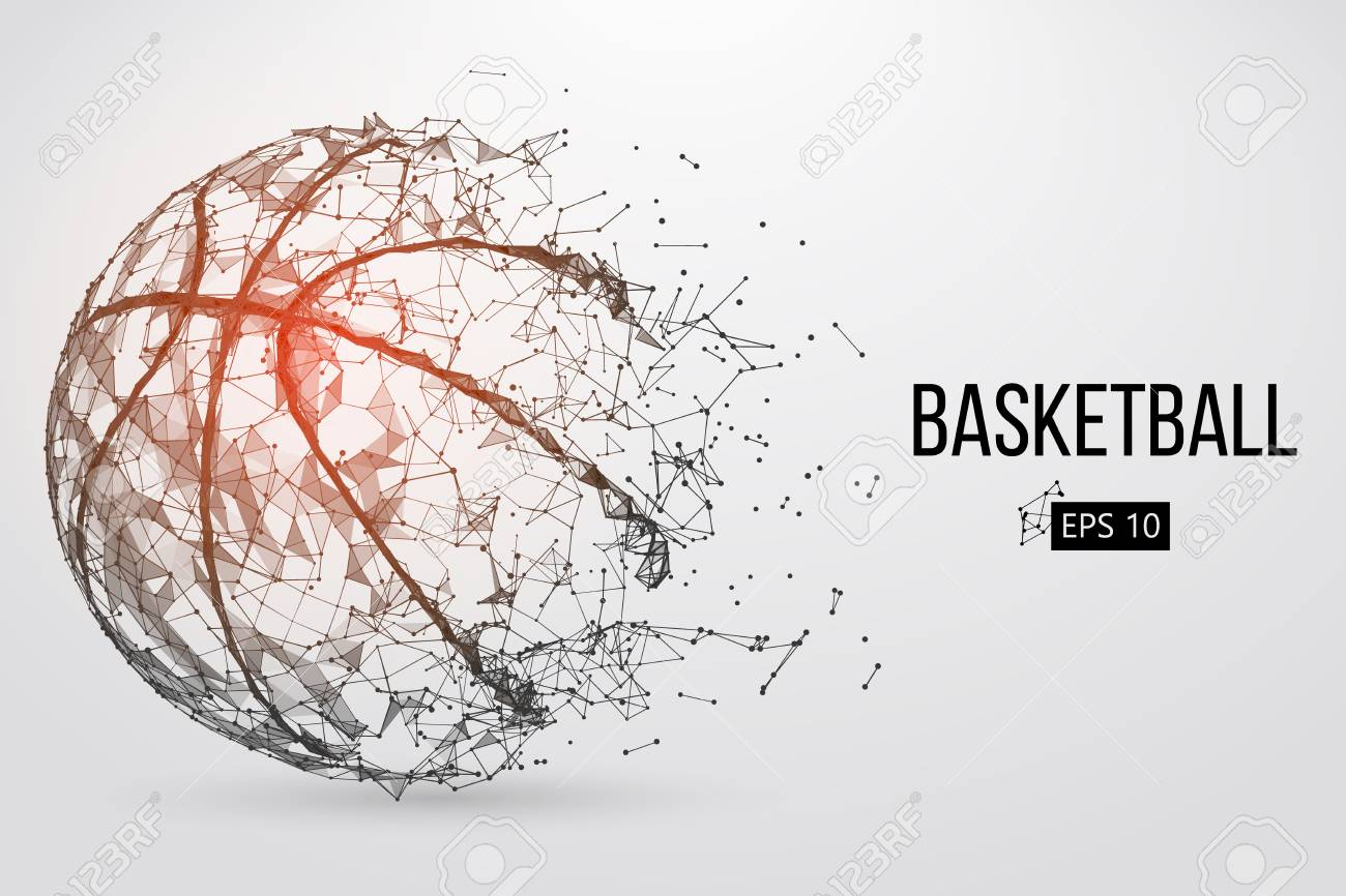 Silhouette of a basketball ball. Vector illustration - 74727739