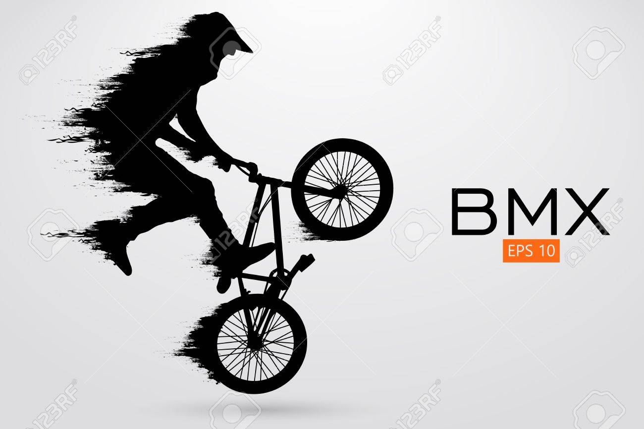 Silhouette of a BMX rider. Vector illustration - 78797277
