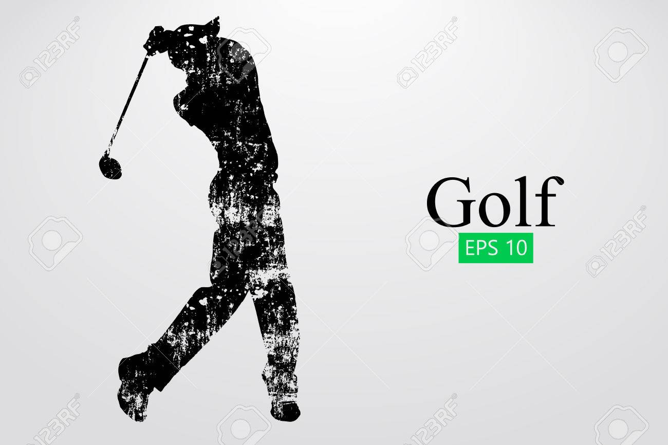 Silhouette of a golf player. Vector illustration - 78761388