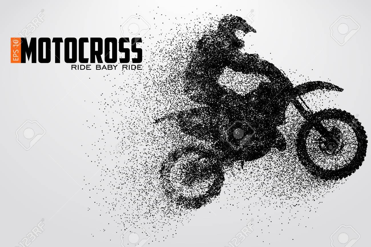 Motocross drivers silhouette vector illustration - 79223117