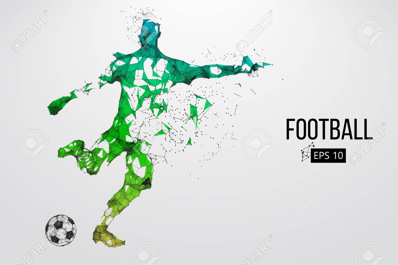 Silhouette of a football player from particles - 85810225
