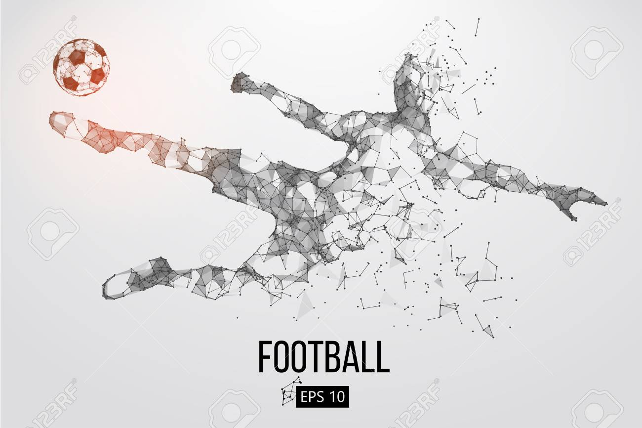 Silhouette of a football player from particles - 85810227