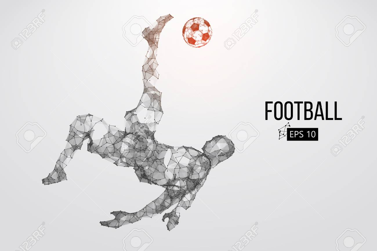 Silhouette of a football player from particles - 85810231