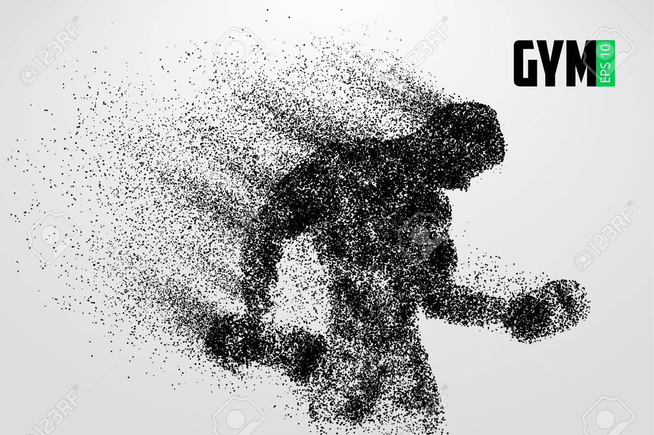 Silhouette of a bodybuilder. gym logo vector. Vector illustration - 88085114