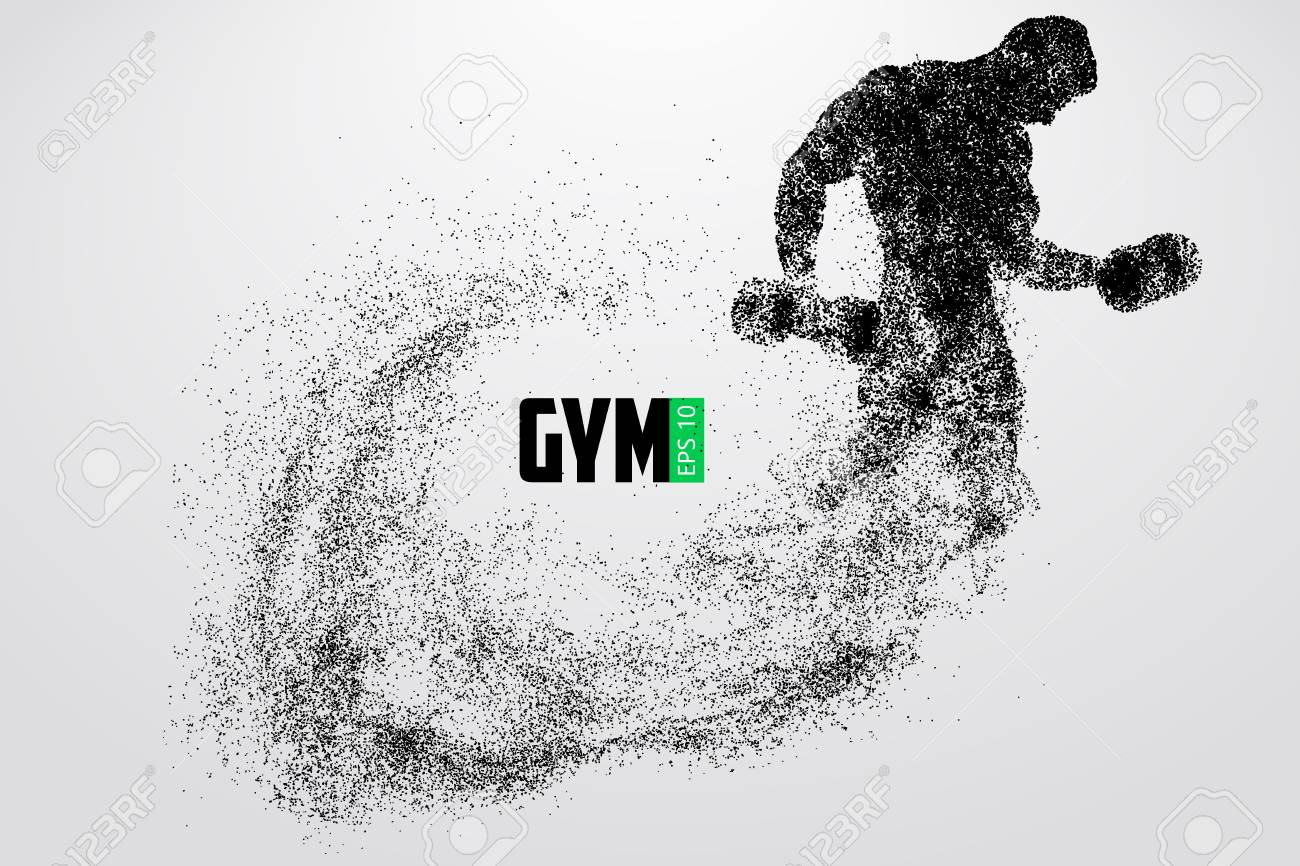 Silhouette of a bodybuilder. gym logo vector. Vector illustration - 88085117
