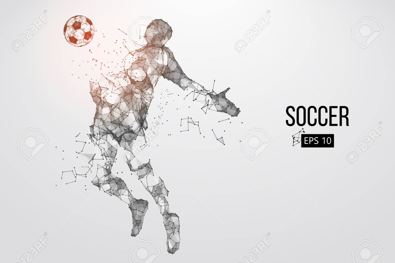 silhouette of a football player from particles. Vector illustration - 88542960