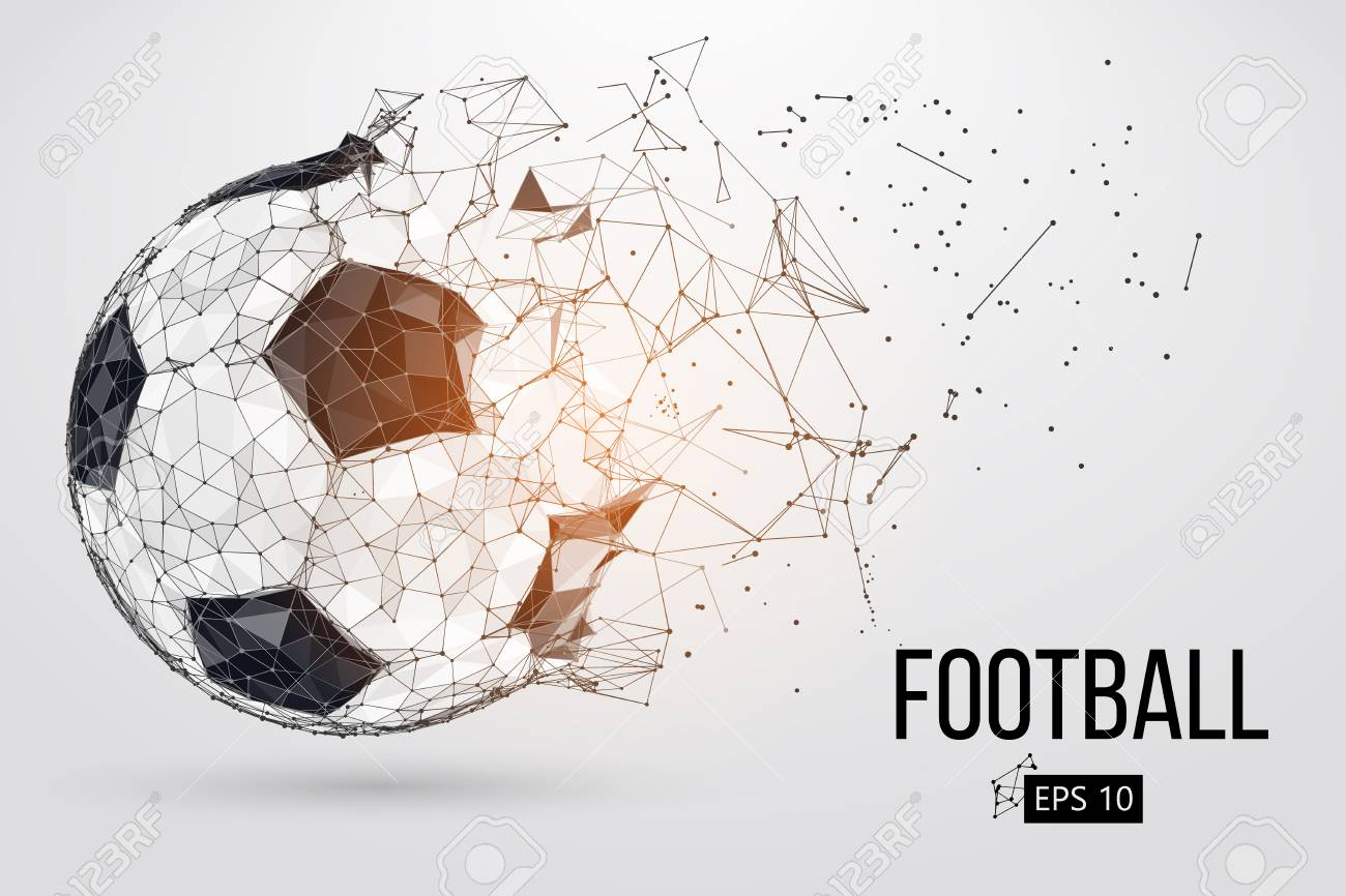 silhouette of a football ball. Vector illustration - 102003985