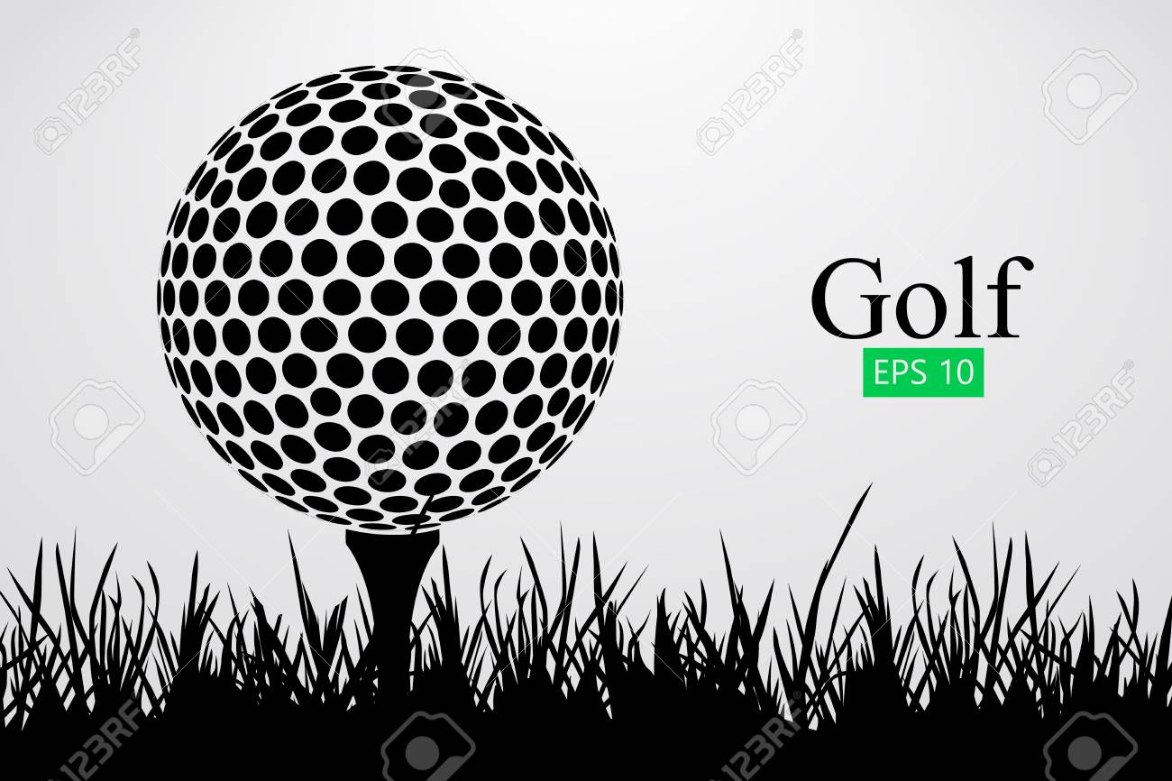 silhouette of a golf ball vector illustration royalty free cliparts