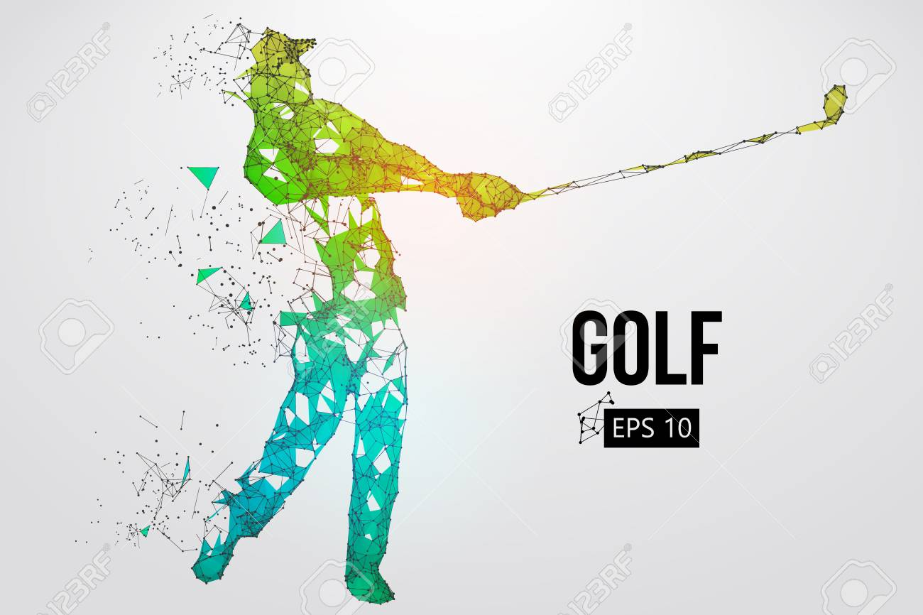 Silhouette of a golf player. Vector illustration - 103097947
