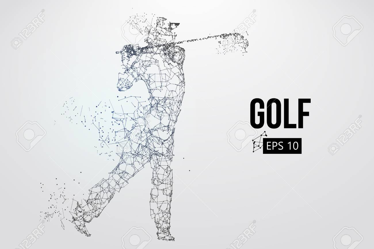 Silhouette of a golf player. Vector illustration - 103176850