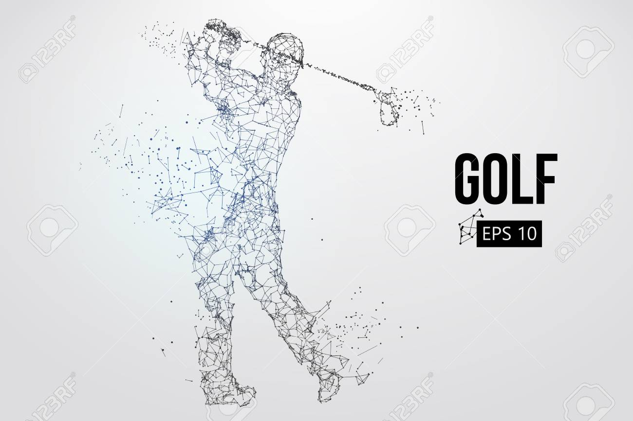 Silhouette of a golf player. Vector illustration - 103083630
