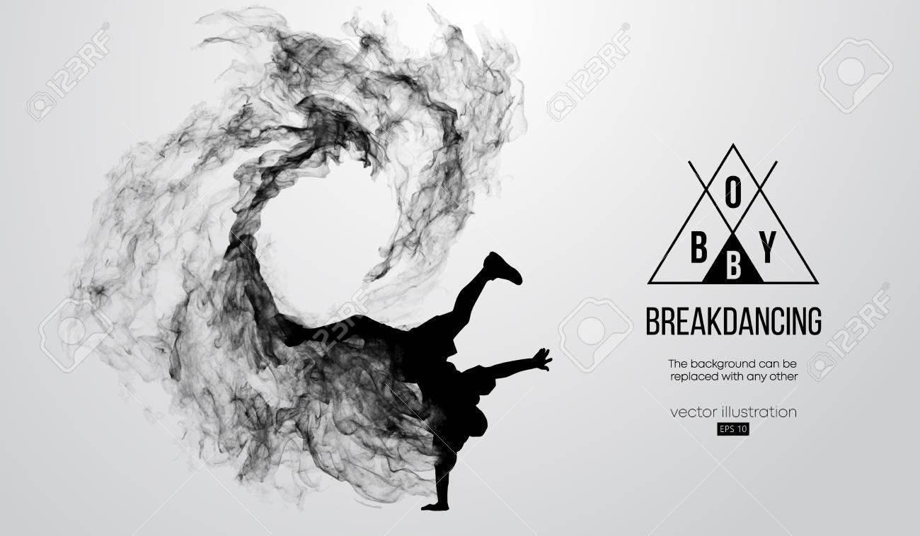 silhouette of a breakdancer, man, breaker breaking - 118850929