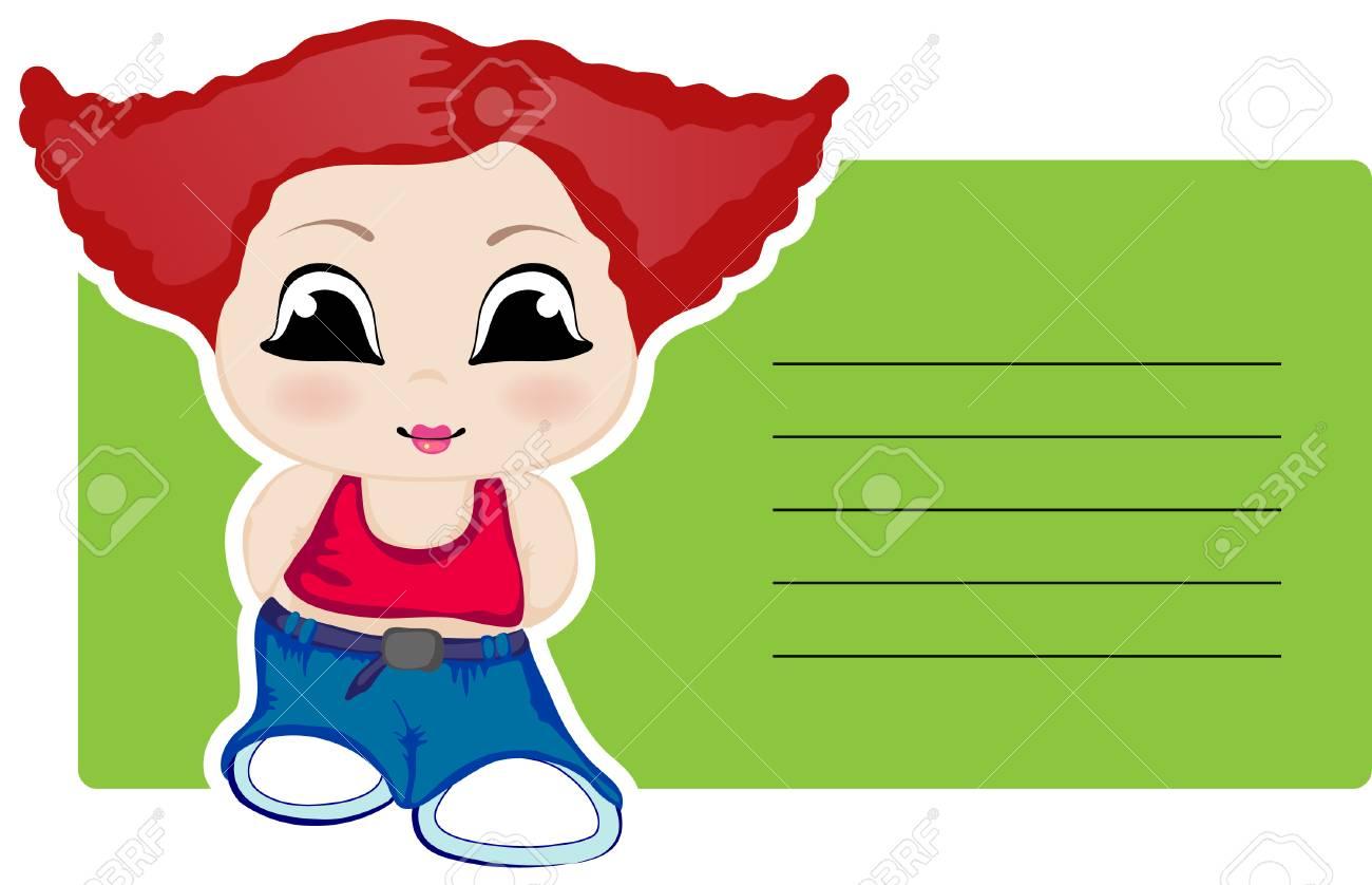 Little girl. Stock Vector - 6793184