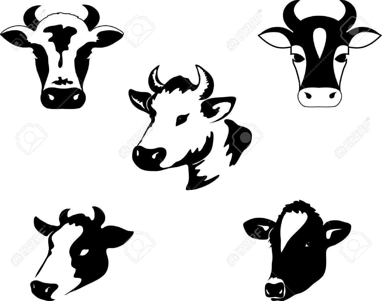 Icon of a cow Stock Vector - 8600661