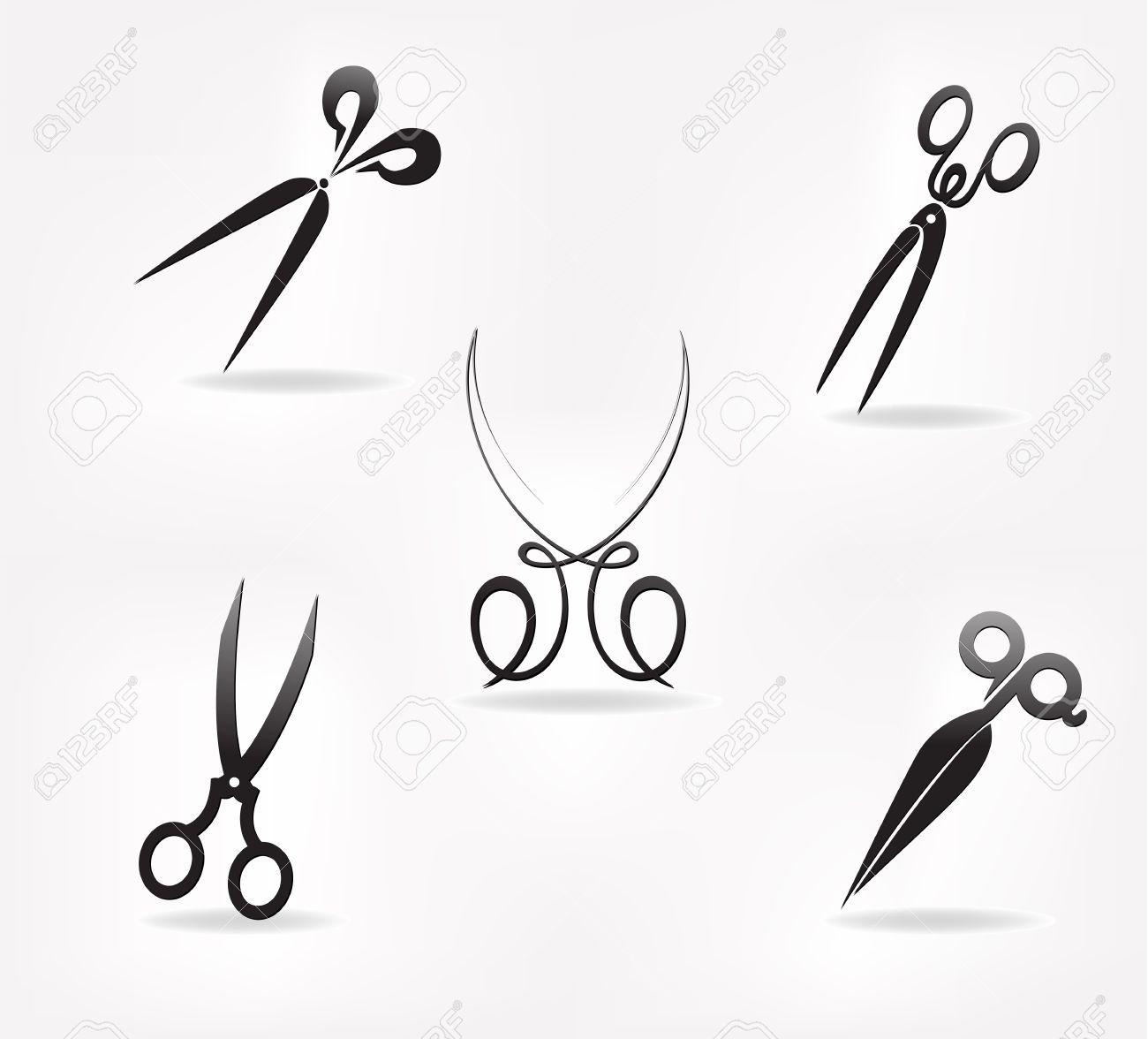 scissors. stylization. design element for vector illustration Stock Vector - 21736917