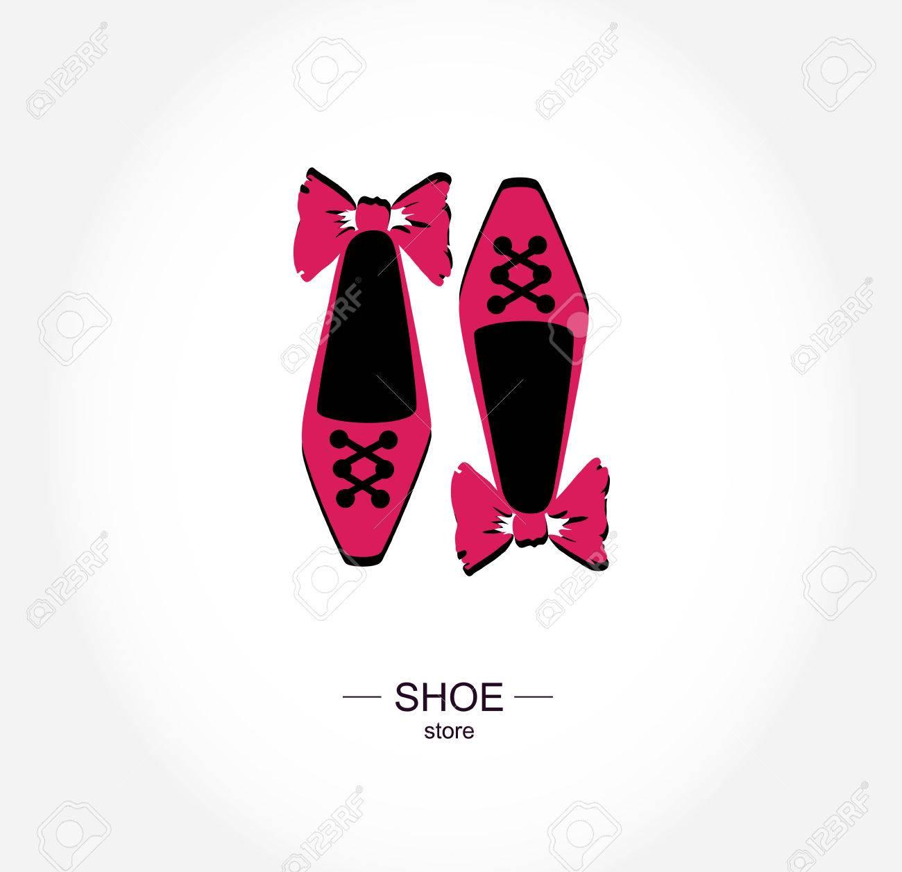 2698c327820 Logo shoe store, shop, boutique label.