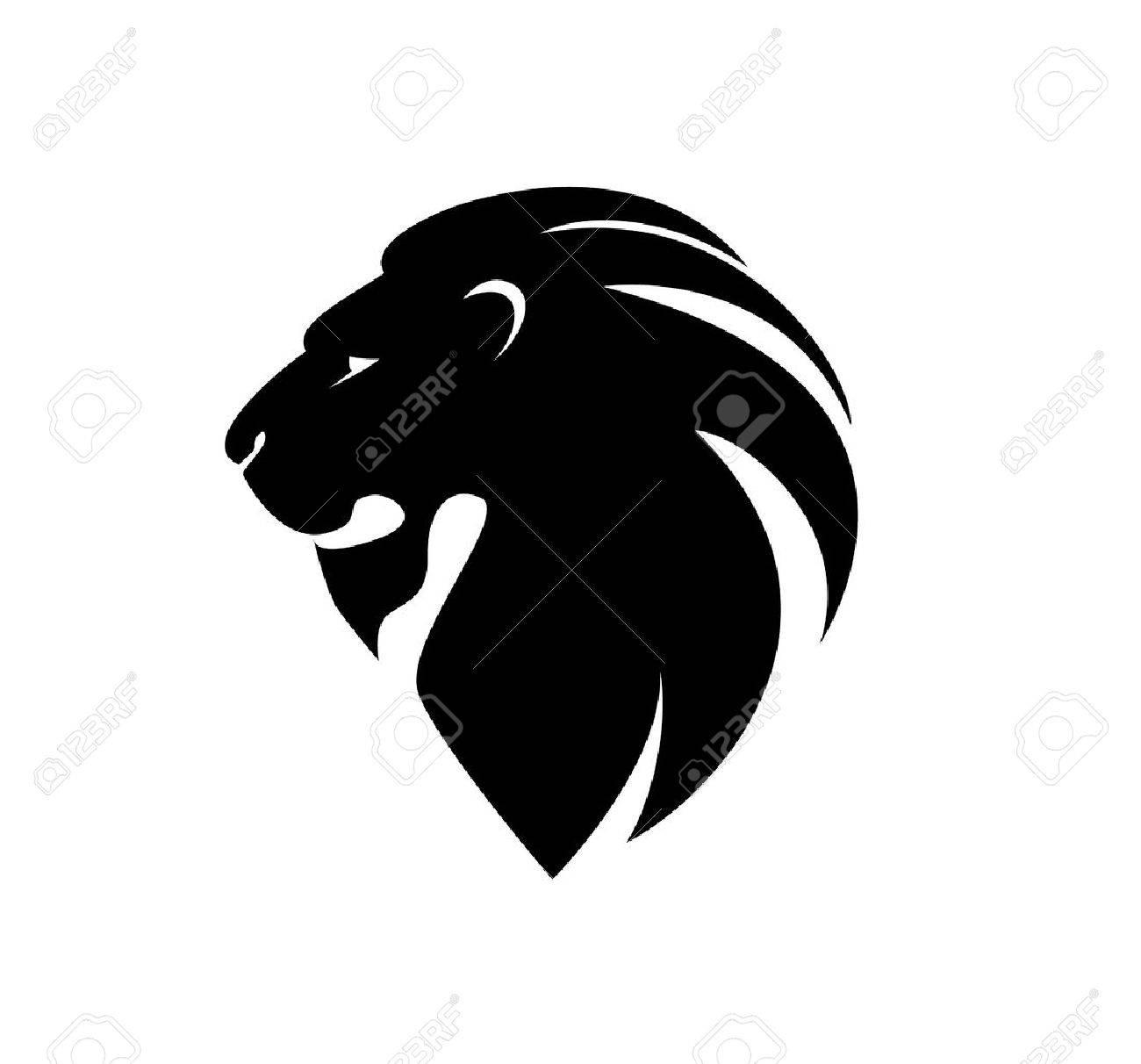 lion's head in profile. - 53163808