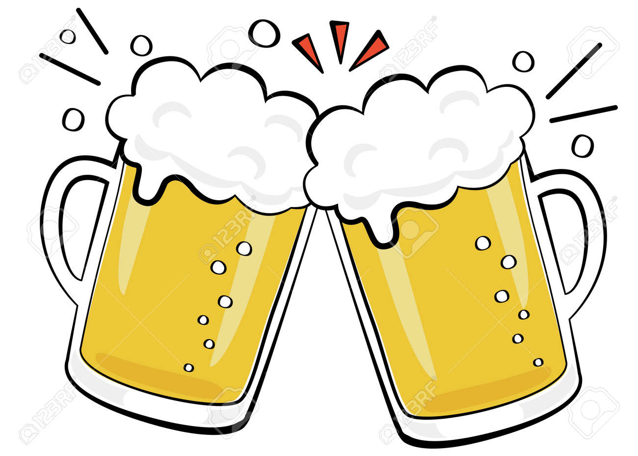 Alcoholic drink toast with beer - 159865080