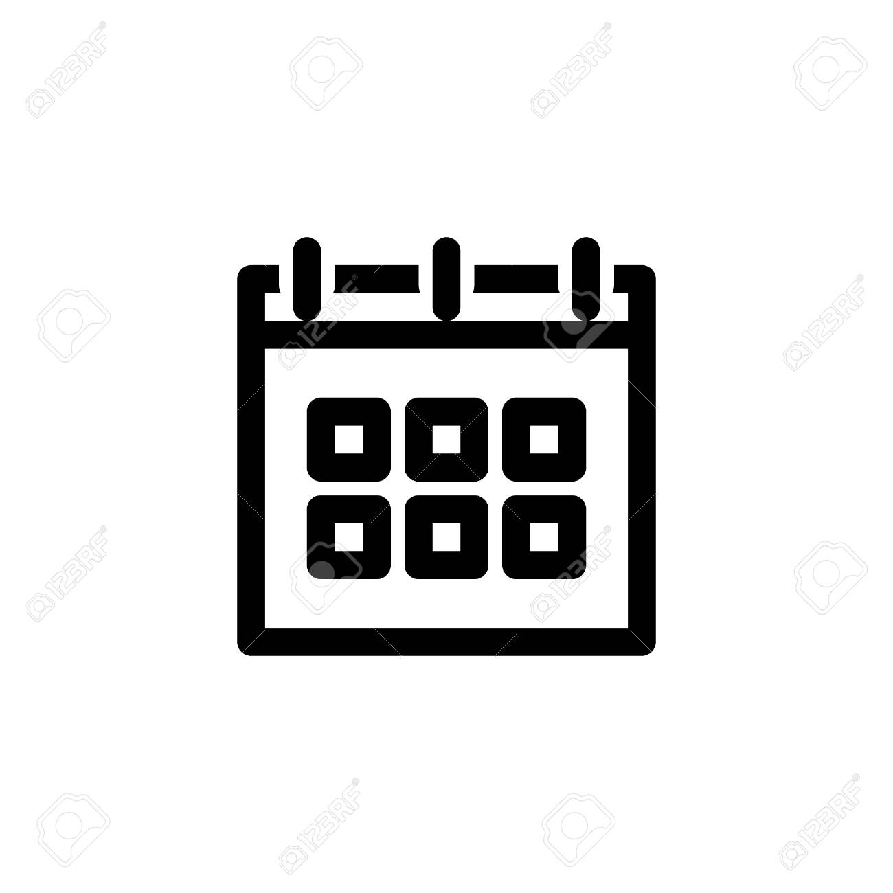 Schedule Icon With Calendar Symbol With Line Or Outline Style Royalty Free Cliparts Vectors And Stock Illustration Image 124798528 You can use these free icons and png images for your photoshop design, documents free icons png images that you can download to you computer and use in your designs. schedule icon with calendar symbol with line or outline style