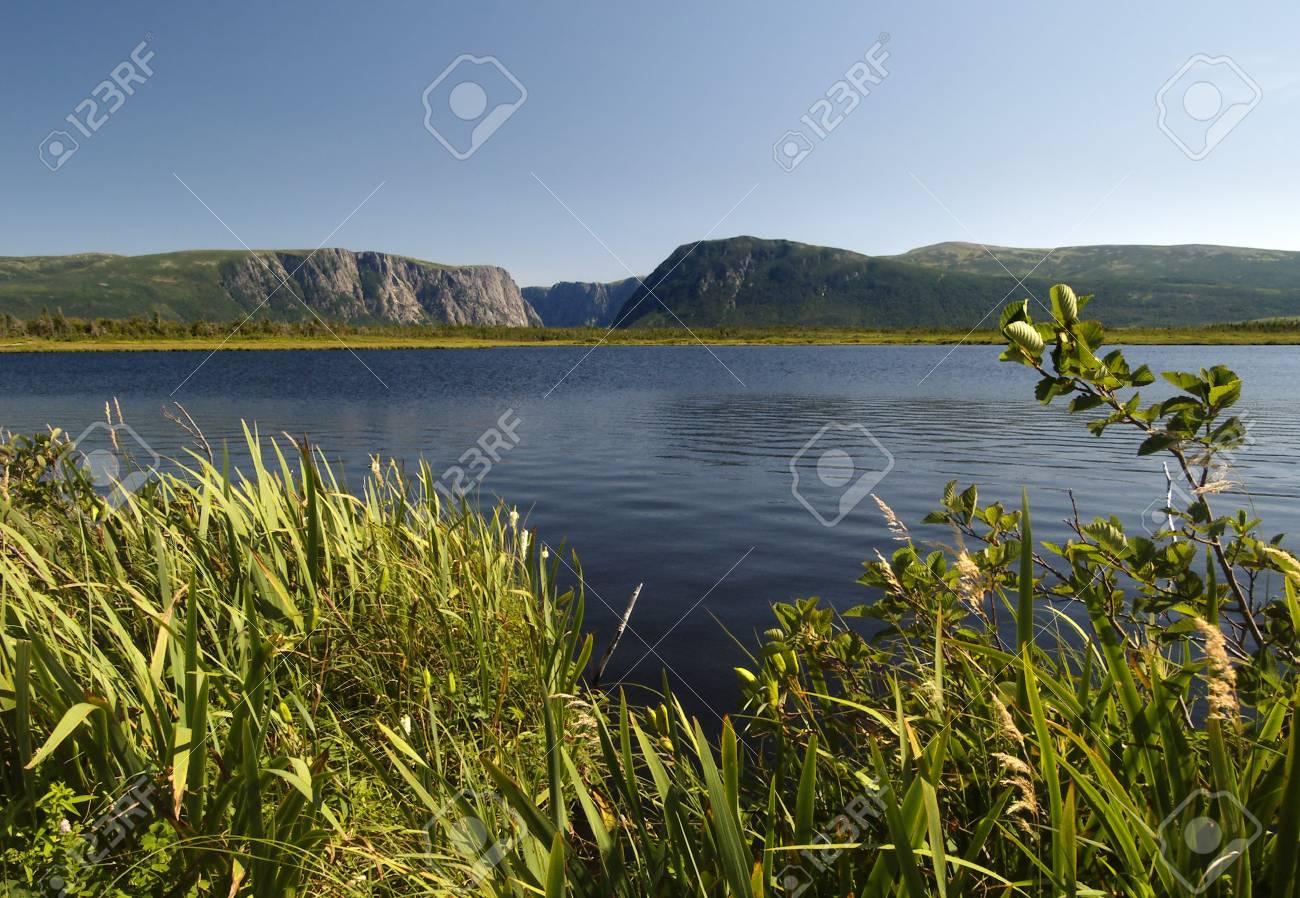 Western Brook Pond located in Newfoundland Canada Stock Photo - 530452