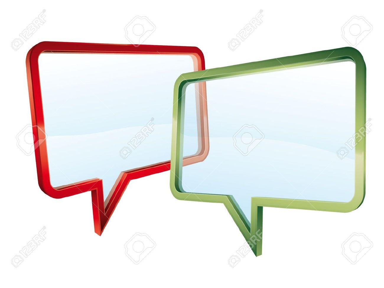 Concept of a transparent conversation Stock Vector - 10771200