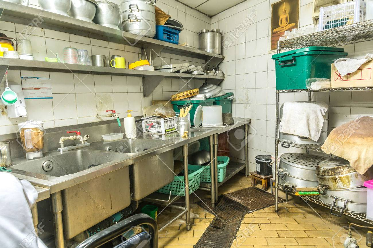 Irregularity Cuisine Setting, Dirty Kitchen Stock Photo, Picture And ...