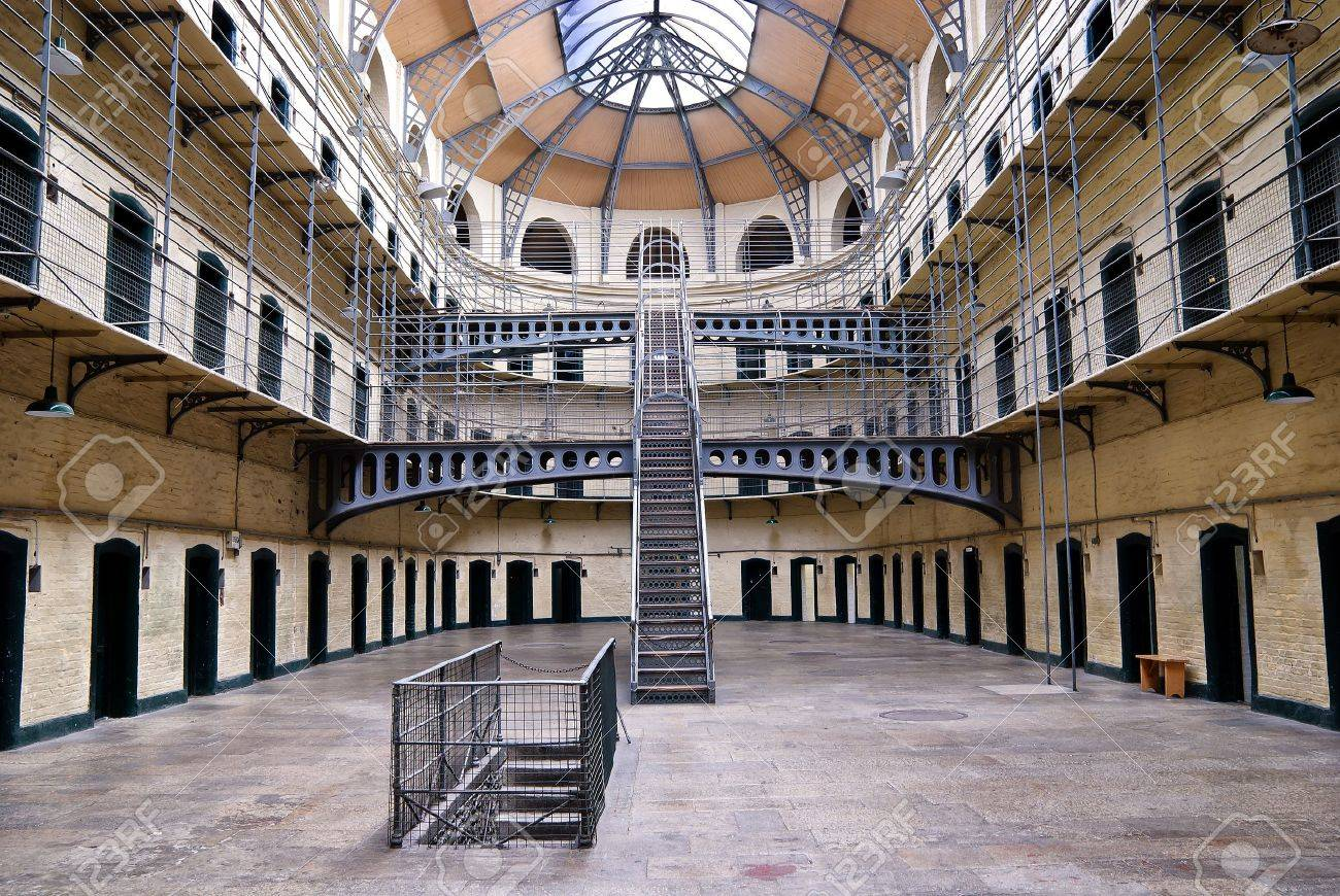 Kilmainham Gaol (Irish: Príosún Chill Mhaighneann), first built in 1796, is a former prison, located in Kilmainham in Dublin, and played an important part in Irish history. Stock Photo - 10515510