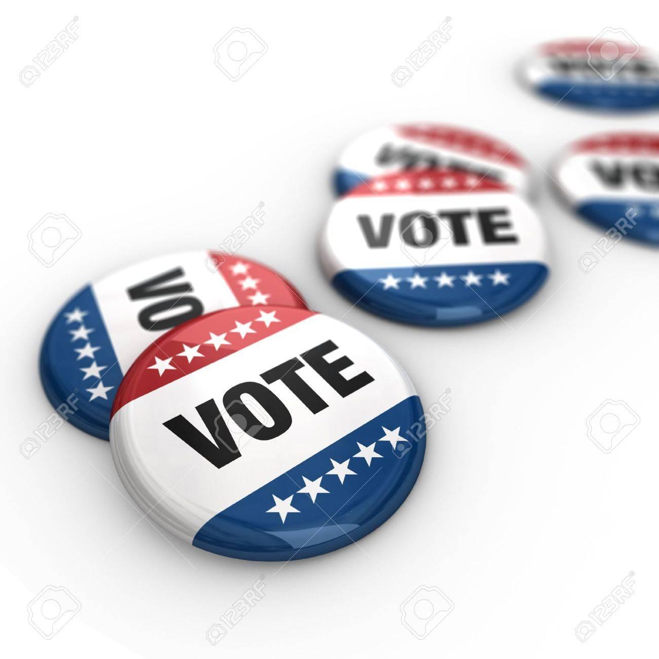Vote Badges Stock Photo - 7321518