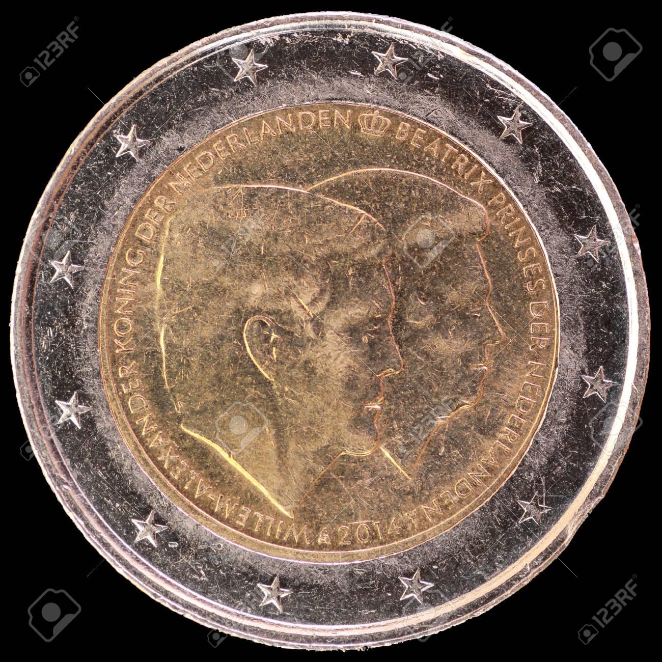 Eine Gedenk Zirkuliert 2 Münze Im Jahr 2014 Von Den Niederlanden