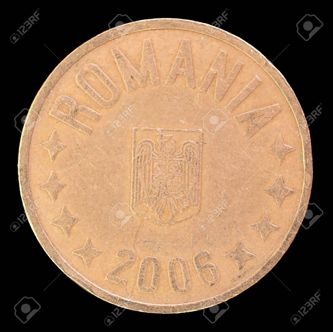 Die Kopffläche Von 50 Bani Münze Im Jahr 2006 Bild Von Rumänien