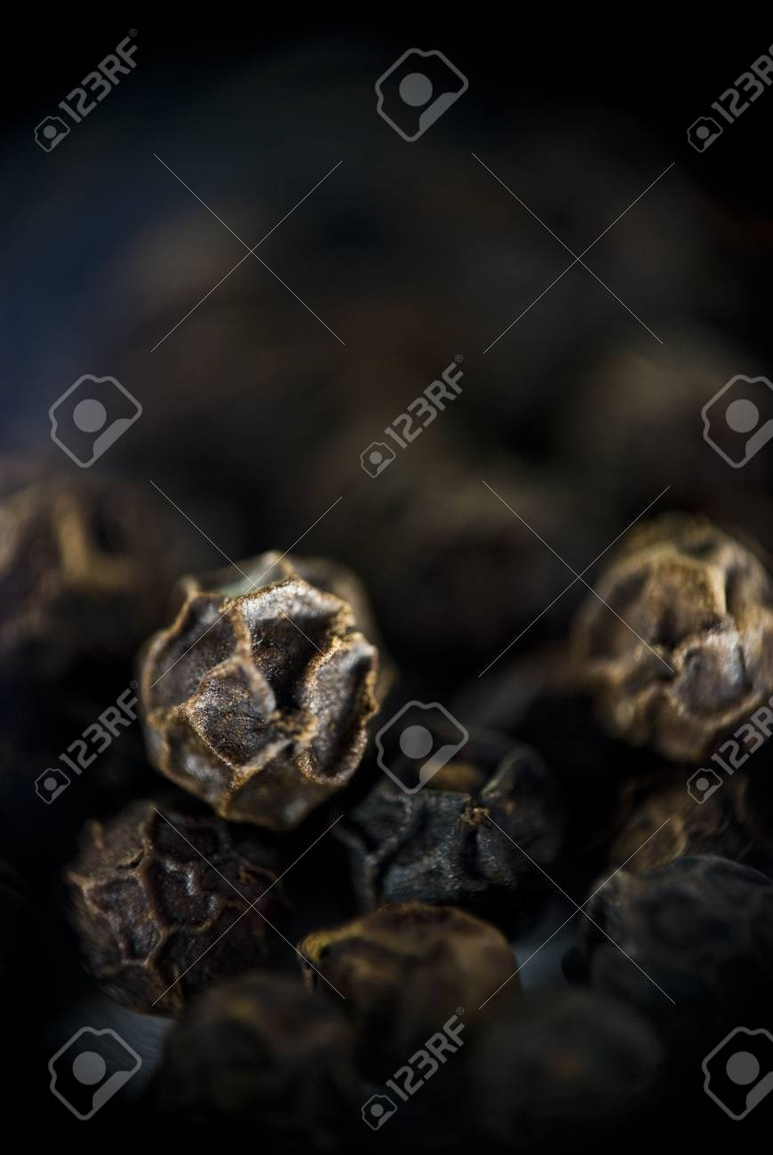 Extreme close-up of pepper grains Stock Photo - 17753294