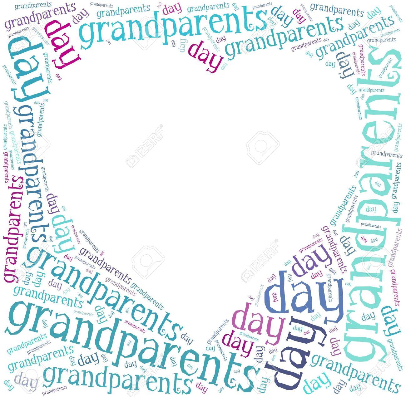 Tag O Nube De Palabras Relacionadas Nacional Día De Los Abuelos En ...