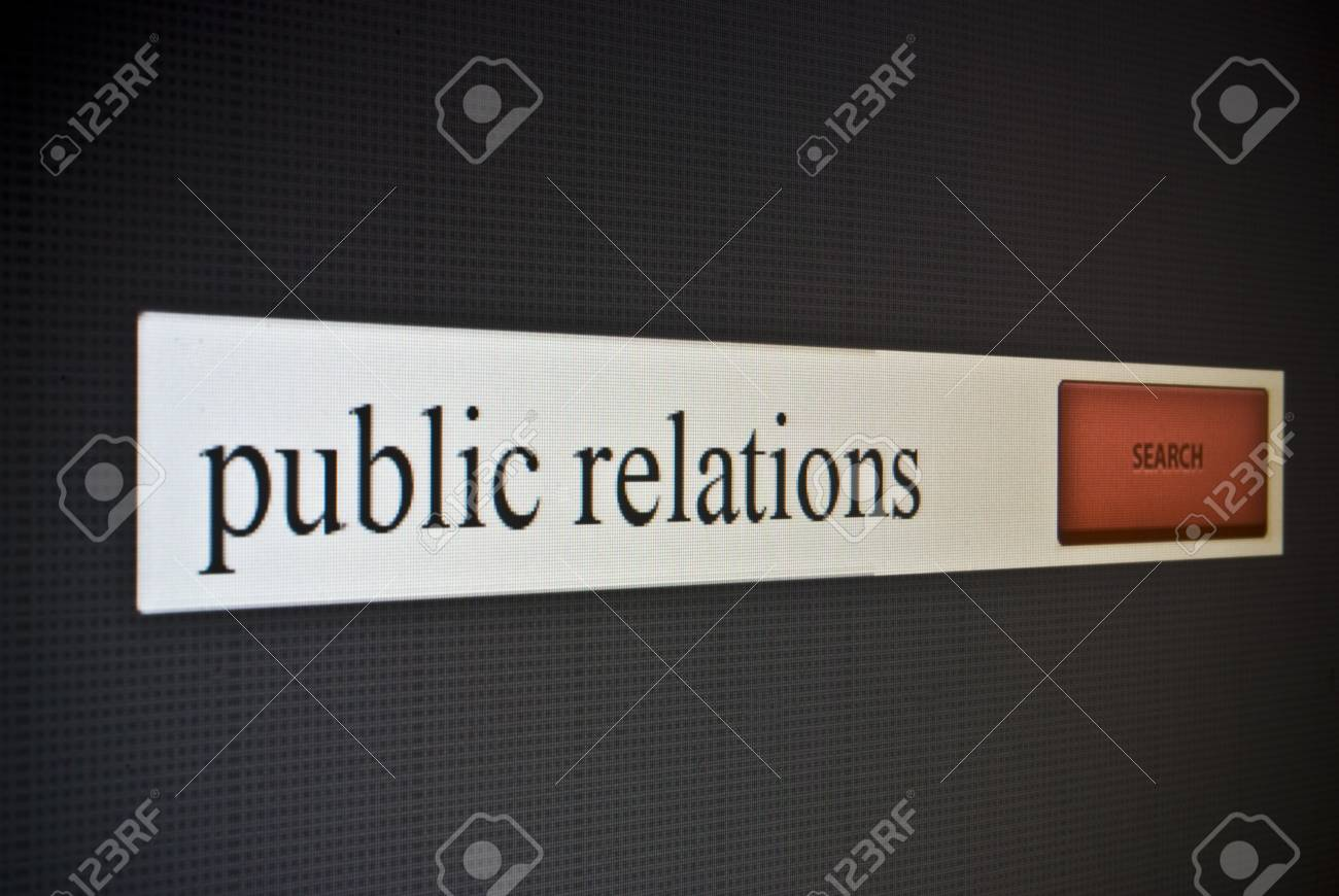 Internet search bar with phrase public relations Stock Photo - 22519997