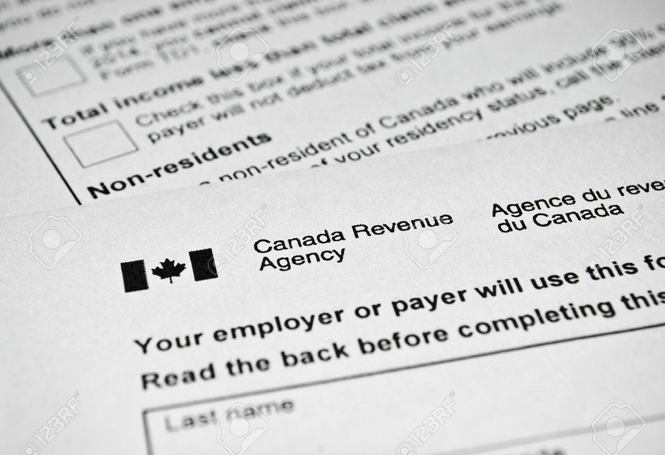 Canadian Tax Form Personal Income Tax Form Used In Canada Stock How To File  Taxes Canada