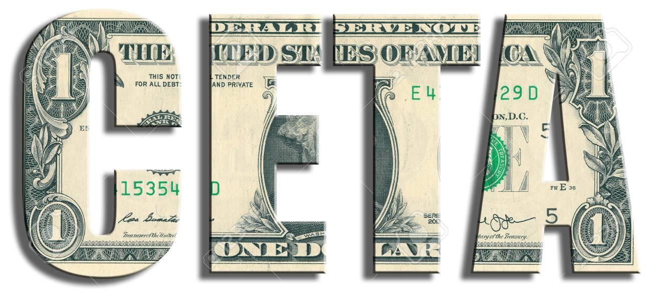 Ceta Comprehensive European Trade Agreement Us Dollar Texture