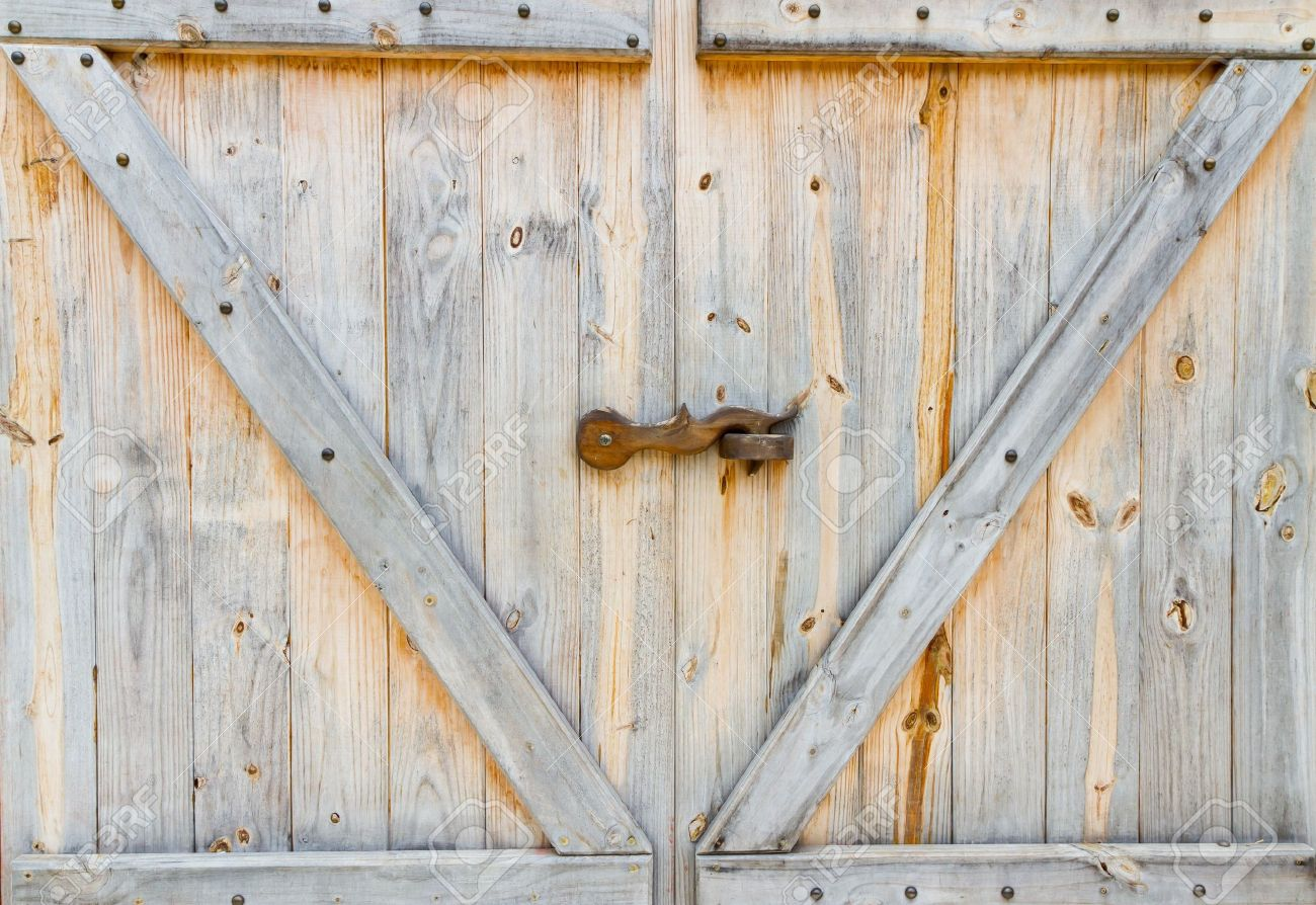 Ordinaire Stock Photo   Wooden Farm Door