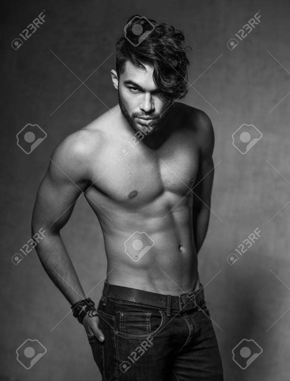 Naked fashion men models
