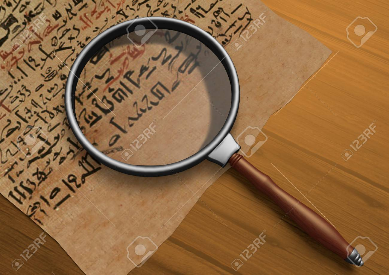 Magnifier on Papyrus - 52904952