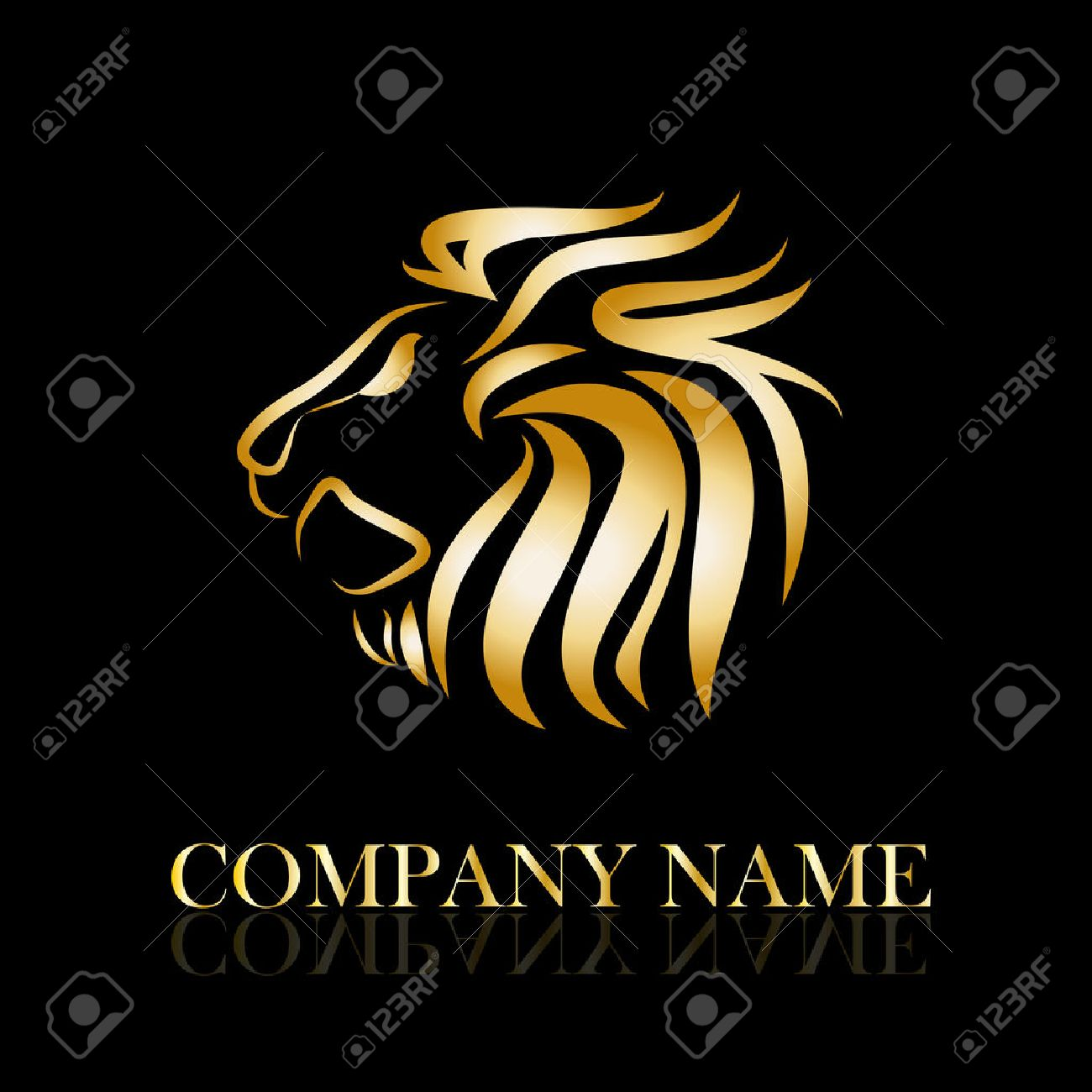 Vector Sign Golden Lion Royalty Free Cliparts, Vectors, And Stock ...