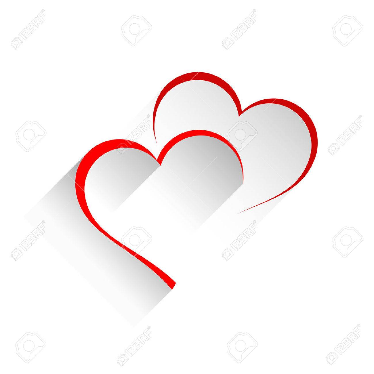 Vector sign two hearts - 50848433