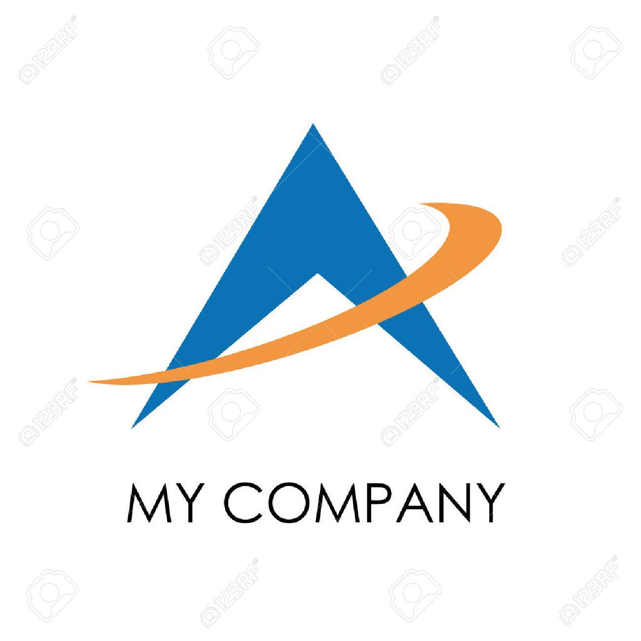 Vector sign up arrow, letter A - 51858565