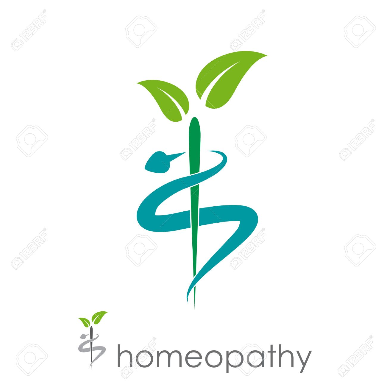 Vector sign homeopathy, alternative medicine - 51858962