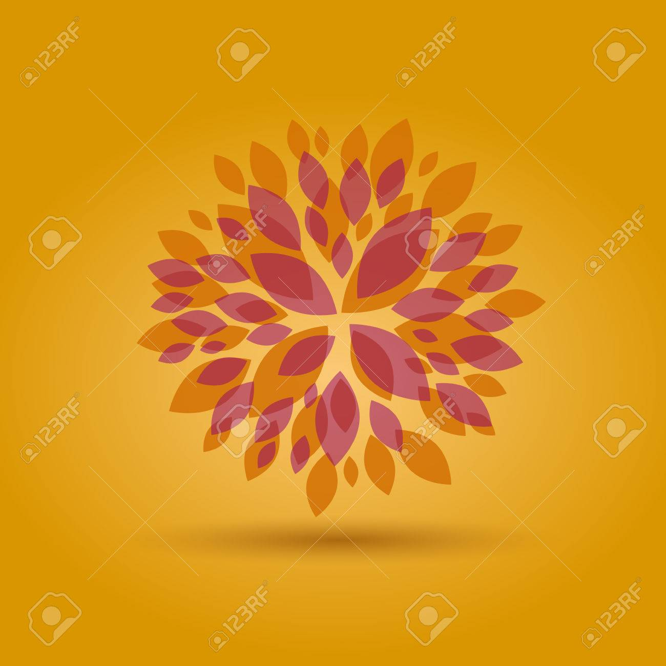 Vector Autumn Floral background - 57146622