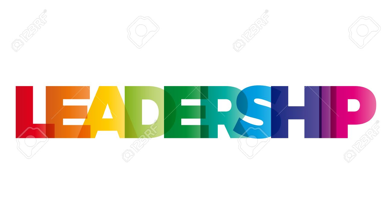 The Word Leadership Vector Banner With The Text Colored Rainbow Royalty Free Cliparts Vectors And Stock Illustration Image 57937943