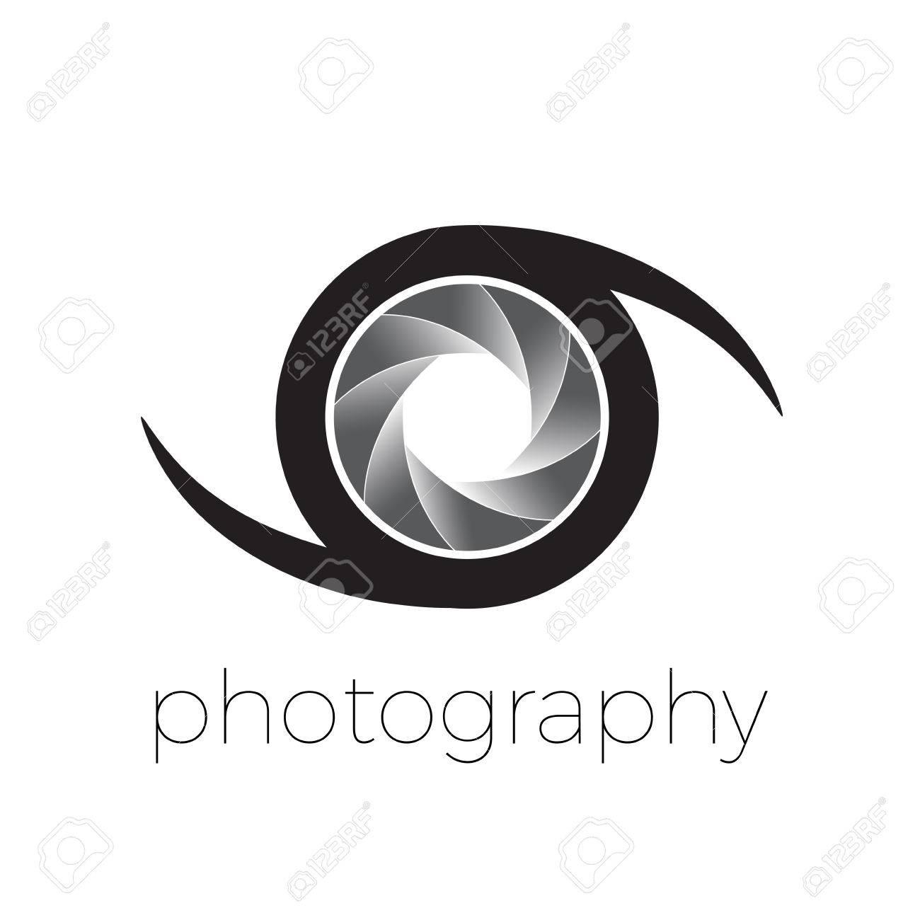 Vector Icono De Diafragma Y De Los Ojos La Fotografía Concepto
